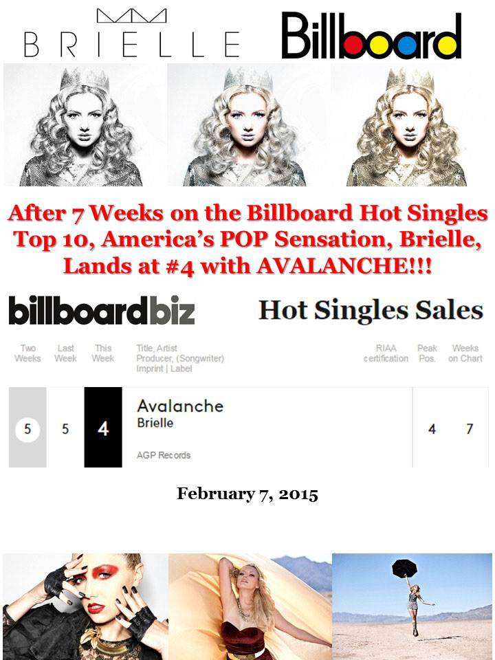 Brielle on Billboard at number 4 at week 7